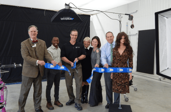 PHILIP D studio ribbon cutting
