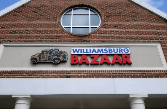 Williamsburg Bazaar store sign