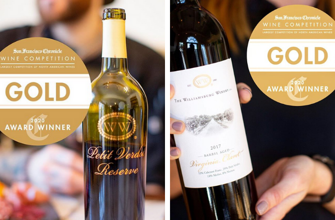 Williamsburg Winery Wins Gold Medals at San Francisco Chronicle Wine Competition