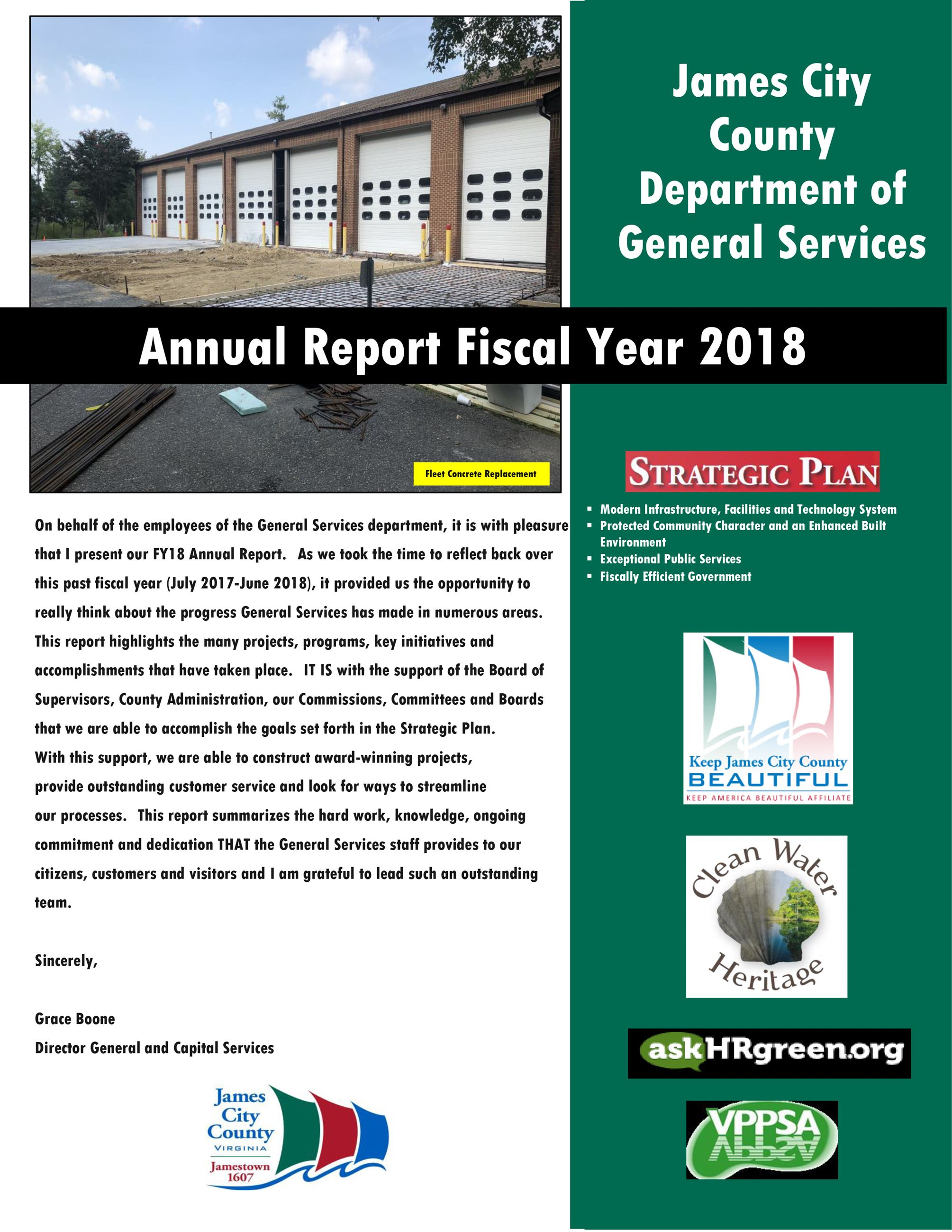 General Services 2018 Annual Report Cover Opens in new window